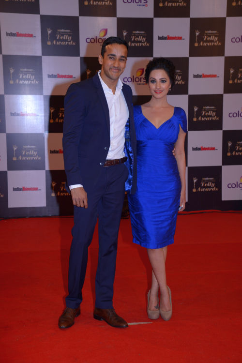 At the 13th Indian Telly Awards - Anita Hasnandani with husband Rohit Reddy