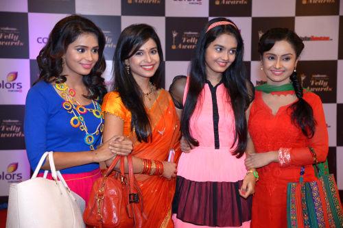 At The 13th Indian Telly Awards - L to R - Shastri Sisters - Sonal Vengurlekar, Neha Pednekar, Pragati Chourasiya, Ishita Ganguly