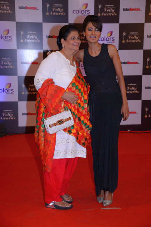 At The 13th Indian Telly Awards - Nigar Khan with her mother
