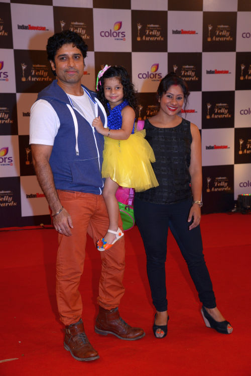 At The 13th Indian Telly Awards - Sai Deodhar with her husband Shakti Anand and their daughter Nakshatra