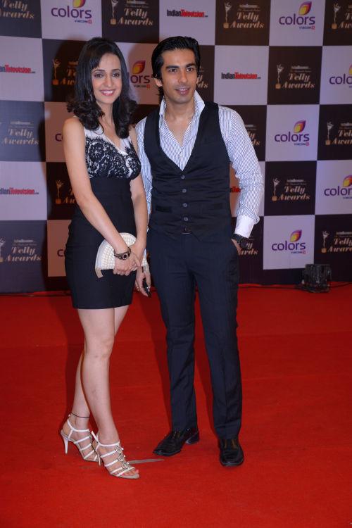 At the 13th Indian Telly Awards - Sanaya Irani and Mohit