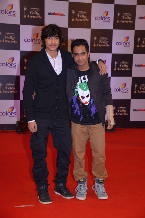 At The 13th Indian Telly Awards - Shantanu and Macedon D'mello