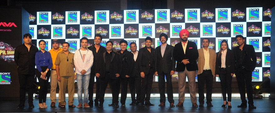 Entire cast of The Kapil Sharma Show at the launch along with NP Singh, Danish Khan & Ashish Golwalkar
