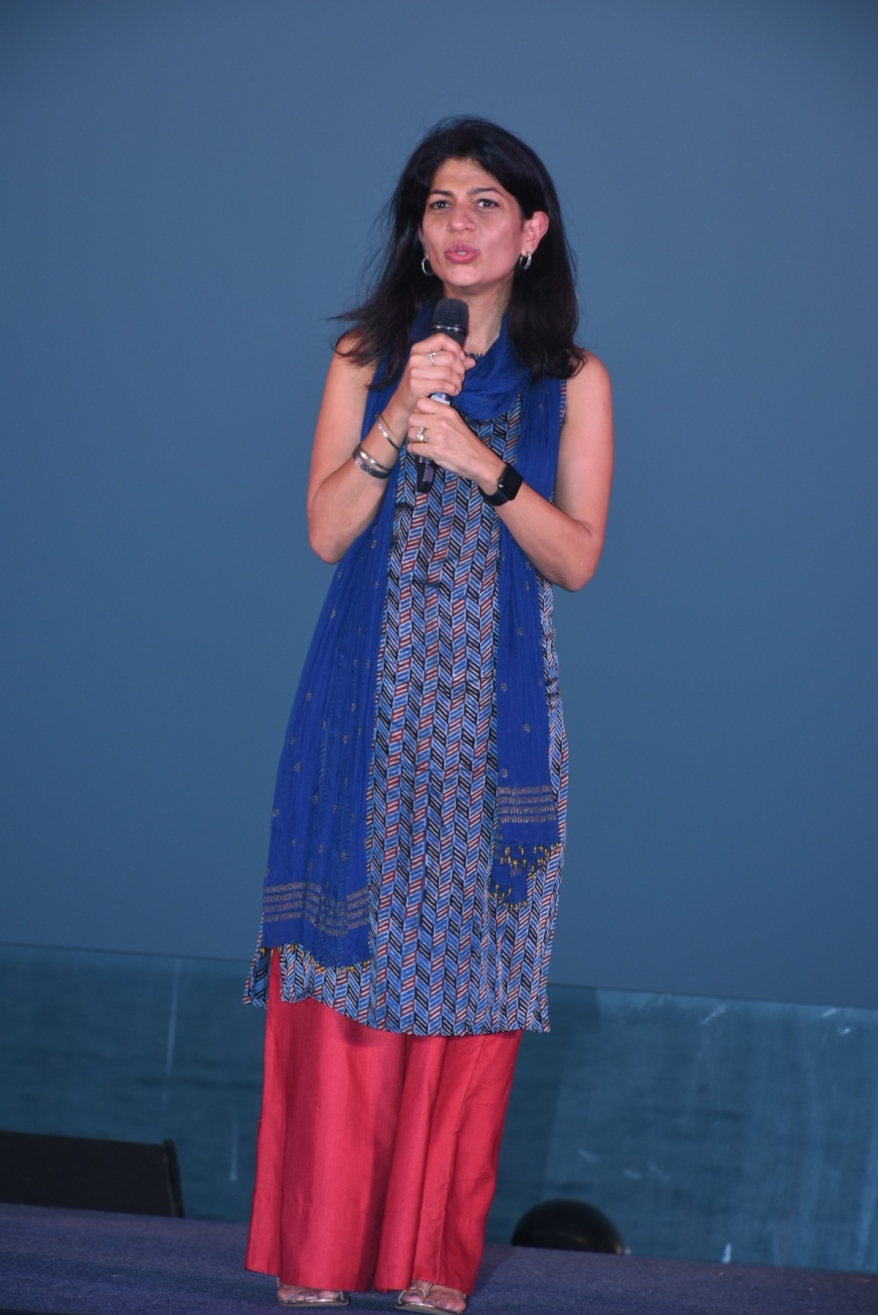 Myleeta Aga at the launch of India Banega Manch