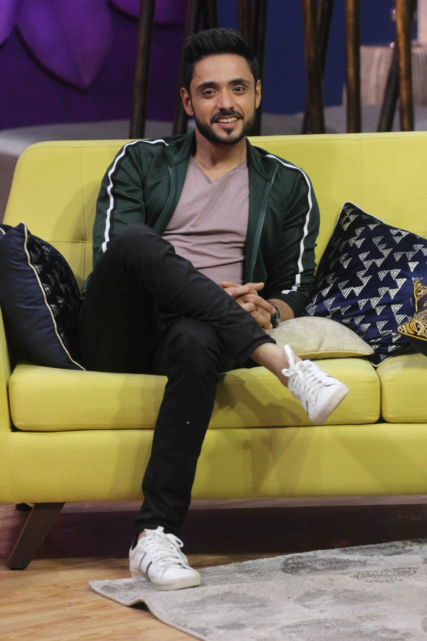 Adnan Khan on Zee TV's JuzzBaatt.JPG