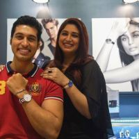 Vahbiz Dorabjee shoots an ad with her brother