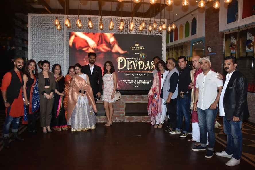 The entire cast and crew of Devdas at the launch of Devdas by AGP World.jpg