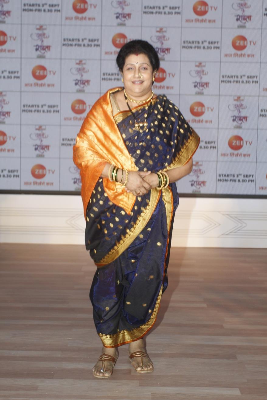 Actor Savita Prabhune at the launch of Zee TV's new upcoming fiction show Tujhse Hai Raabta